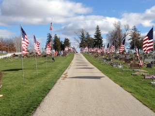 Cemetery Ave of Flags3